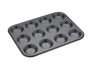 Crusty Bake 12 Cup Shallow Baking Pan 32cm